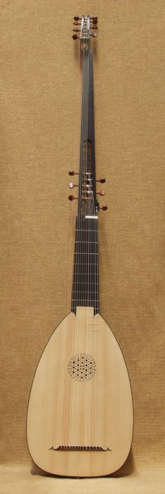 Large French Theorbo